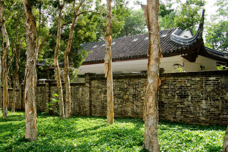 It is Chinese traditional house behind the forest. Stock Photo - 5781768