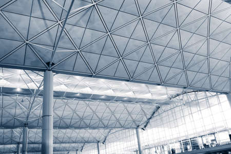 It is the interior architecture structure of Hong Kong International  Airport. photo