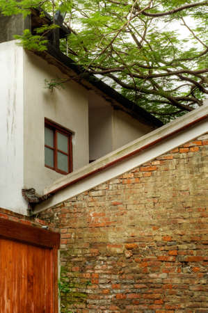 Abstract building structure of old wall and house. Stock Photo - 6480607