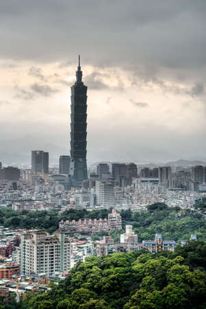 Bad weather cityscape in Taipei with dark clouds. Stock Photo - 6793586