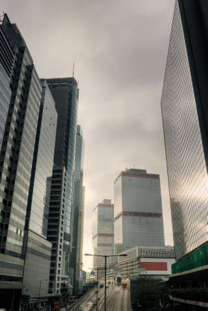 Skyline of modern city with skyscrapers in Hong Kong. Stock Photo - 7005650