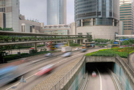 City traffic with cars motion blurred on the road. Stock Photo - 7805080