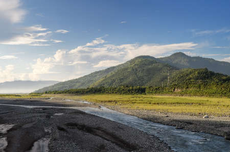 Landscape of mountain with river in day in Taiwan. Stock Photo - 7805121