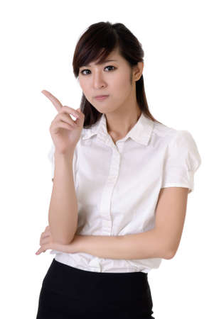 Closeup portrait of business woman reject you with confident expression. Stock Photo - 8006700