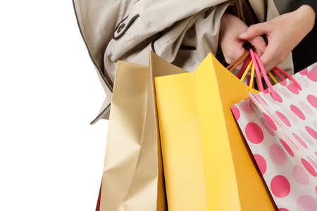 Closeup image of shopping woman holding bags. Stock Photo - 8285739