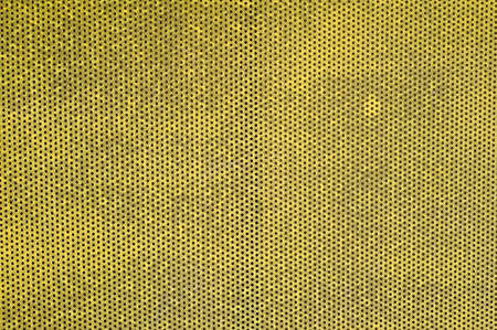 Metal grille texture background in yellow color. Stock Photo - 8474274