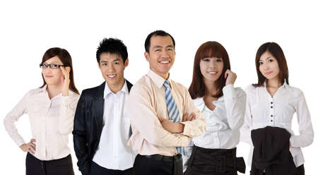 Mature successful business man with his young team partner. Stock Photo - 8481071