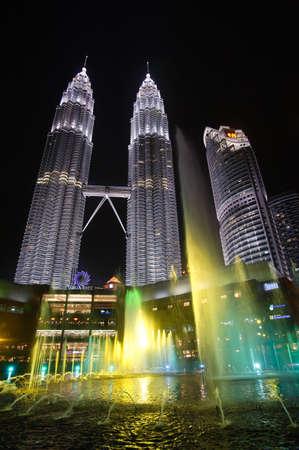 KUALA LUMPUR,December 31 2010 : Famous skyscraper - Petronas Twin Towers on December 31, 2010 in Kuala Lumpur, Malaysia, Asia. Kuala Lumpur landmark building in night.
