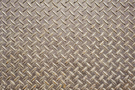 Background of old metal diamond plate in brown color.  Stock Photo - 8905939