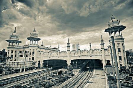 쿠알라 룸푸르, 말레이시아, 아시아에서 역 건물의 랜드 마크.