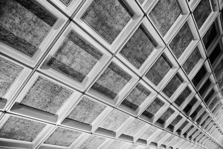 Gray square shaped ceiling in public places. Stock Photo - 8905947