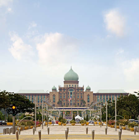 Primeministers office building and the plaza in Putrajaya, Malaysia. Asia photo