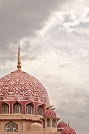 Architecture of pink dome mosque in Putrajaya, Malaysia. Asia. photo