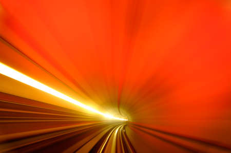 Background of abstract of colorful scene of tunnel. photo