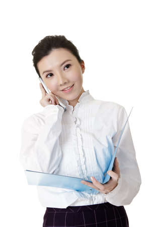 Attractive business woman of Asian using cellphone. Stock Photo - 8952078
