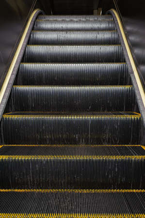 Escalator, closeup image with good metal texture. photo