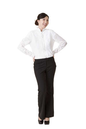Elegant business woman with smiling face isolated on white background. Stock Photo - 8911407