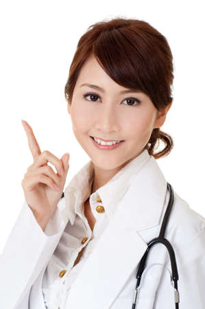 Asian doctor, closeup portrait of beautiful woman. Stock Photo - 9113810