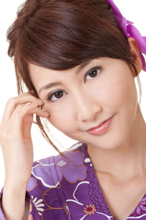 Japaneses beauty, closeup portrait of young Asian woman. Stock Photo - 9113860