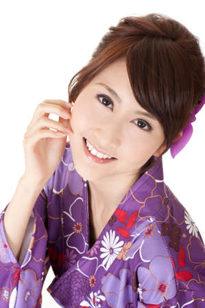 Smiling Japaneses woman, closeup portrait of happy Asian beauty. Stock Photo - 9113866