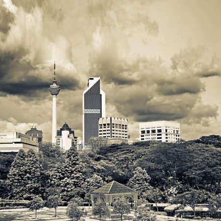 City scenery of skyline and buildings in Kuala Lumpur, Malaysia, Asia. Stock Photo - 9235534