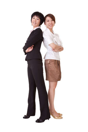 Business women, full length portrait isolated on white background. Stock Photo - 9639503