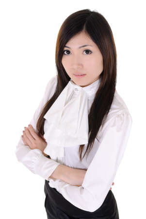 Successful manager woman, closeup portrait of Asian business woman on white background. Stock Photo - 9701930