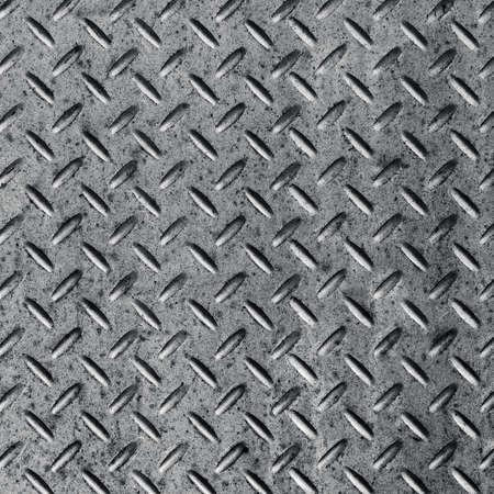 Background of metal diamond plate in silver color. Stock Photo - 17848505