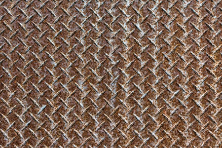 Background of old metal diamond plate in brown color. Stock Photo - 17963168