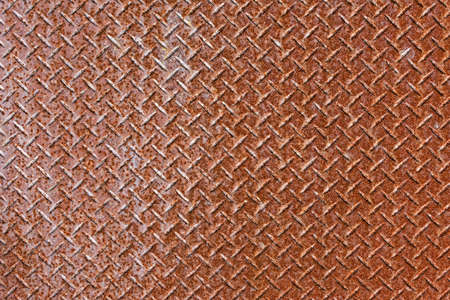 Background of old metal diamond plate in brown color. Stock Photo - 17963171