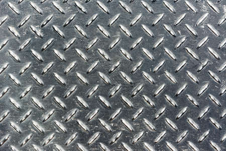 Background of metal diamond plate in silver color. Stock Photo - 18870104