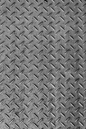 Background of metal diamond plate in silver color. Stock Photo - 19547638