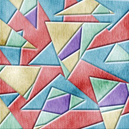 cubismo: Textura de fondo de madera con el cubismo. Foto de archivo