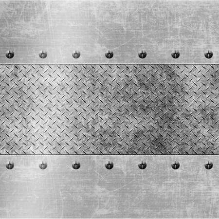 Background of metal diamond plate in grungy color. Stock Photo - 20708928