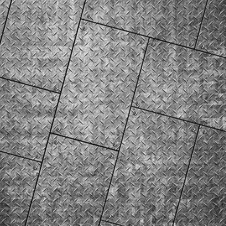 Background of metal diamond plate in silver color. Stock Photo - 20708929