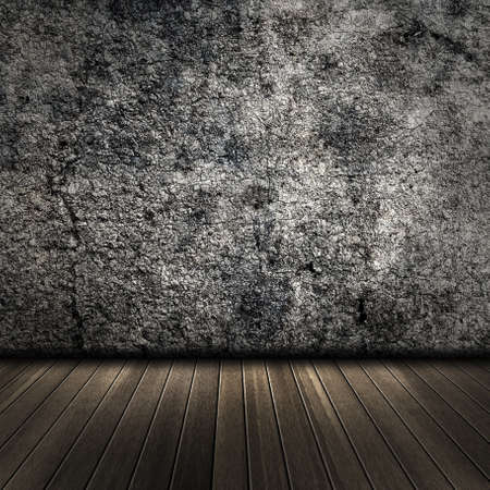 Grunge wall with floor, interior of a room. Stock Photo - 21044310