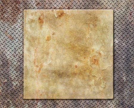 Metal yellow textured grunge background. Stock Photo - 21789223