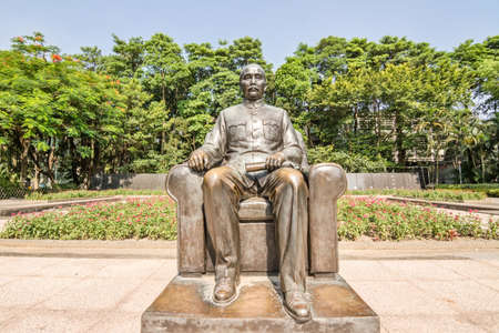yat sen: Statue of Sun Yat-Sen  Sunzhongsha n  emplaced in the Memorial Hall in Guangzhou China  Sun  1866-1925  was a revolutionary and political leader  As Sun is Founding Father of Republican China