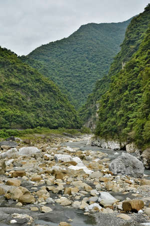 Famous geography landscape at Taroko National Park, Taiwan, Asia photo