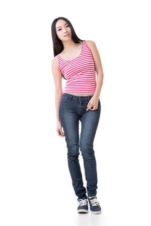 full length: Chinees meisje, volledige lengte portret
