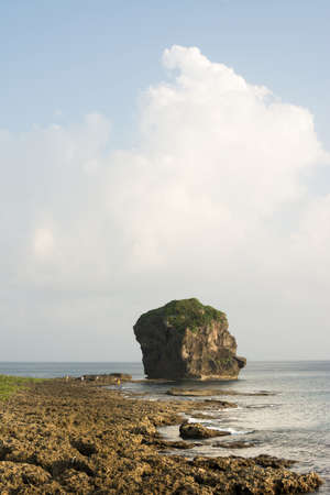 kenting: Chuanfan Rock, famous coral coastline and landmark at Kenting National Park, Taiwan, Asia. Stock Photo