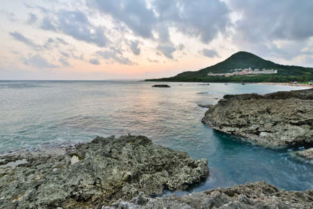 kenting: Sunset. Coral coast line at Kenting National Park, Taiwan, Asia.