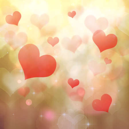 twinkling: Abstract heart shaped bokeh background.