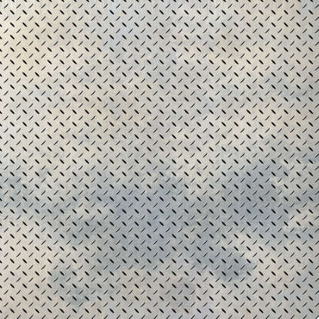 Background of metal diamond plate in grungy color. Stock Photo