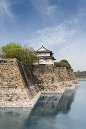 heave: Osaka castle, one of the famous castle in Japan, Asia