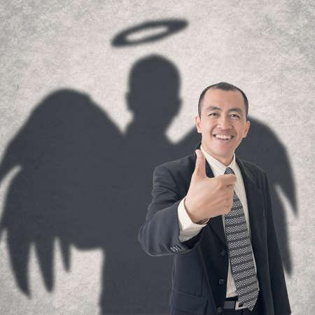 비즈니스 천사의 개념입니다. 스톡 콘텐츠