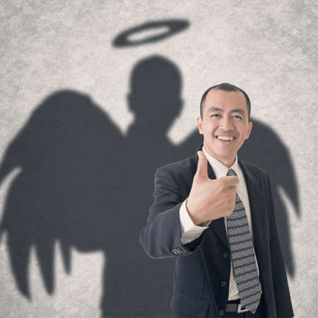 Concept of business angel . photo