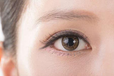 アジアの女性の目のクローズ アップ イメージ