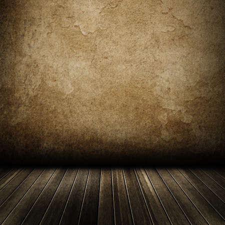 aged wood: Texture of grunge interior, old dirty wall. Stock Photo