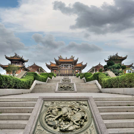 Chinese traditional temple, Buddhism, Taoism building in Macao, China. photo
